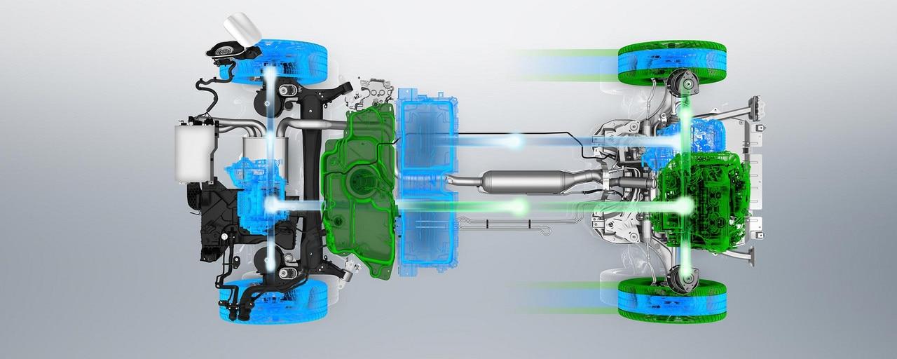 PEUGEOT 3008 GT HYBRID4: Modo 4WD (motor térmico y refuerzo eléctrico)