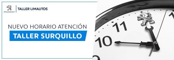 Comunicando nuevo horario de atención en el taller de Surquillo